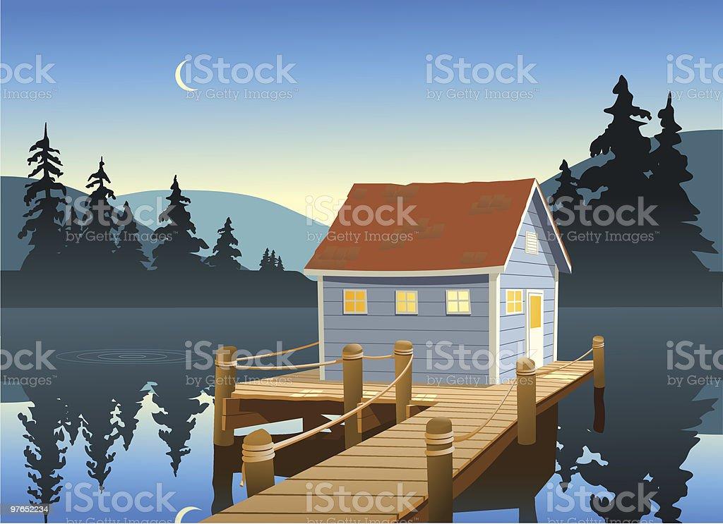 Fishing Shack royalty-free stock vector art