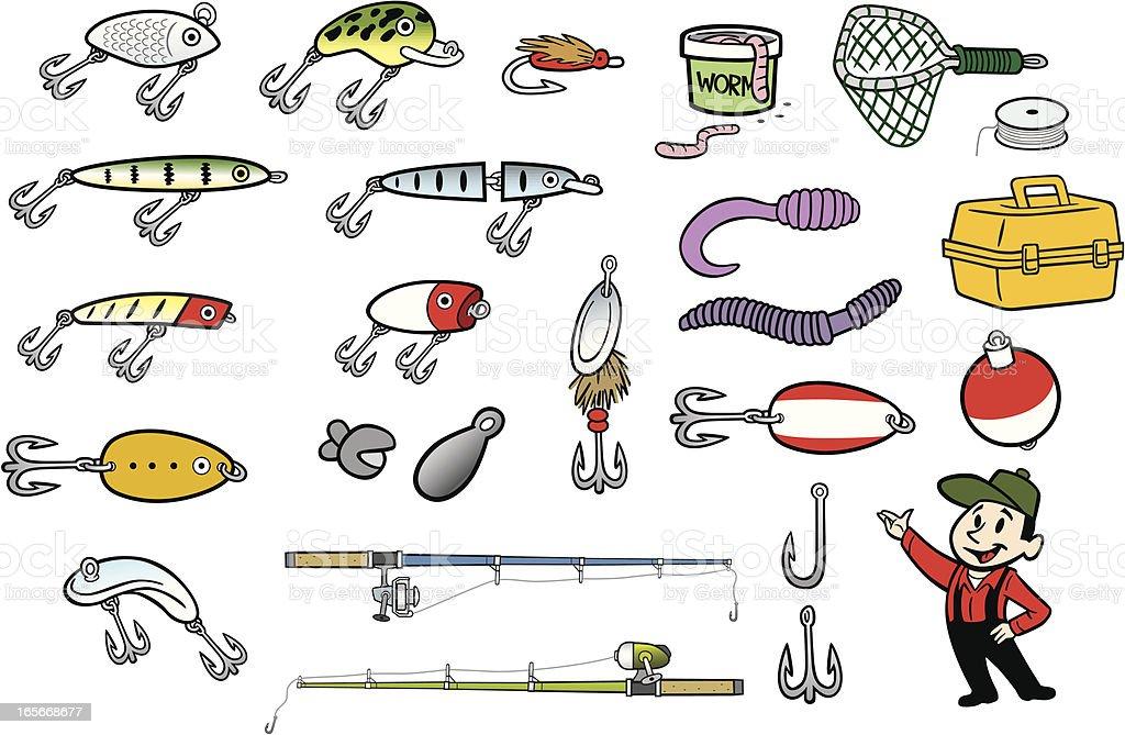 Fishing Stuff royalty-free stock vector art