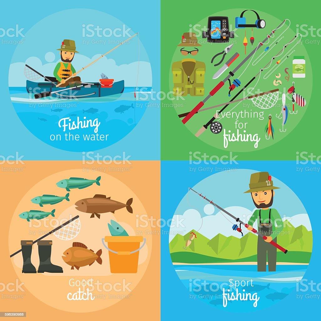 Fishing vector concept vector art illustration