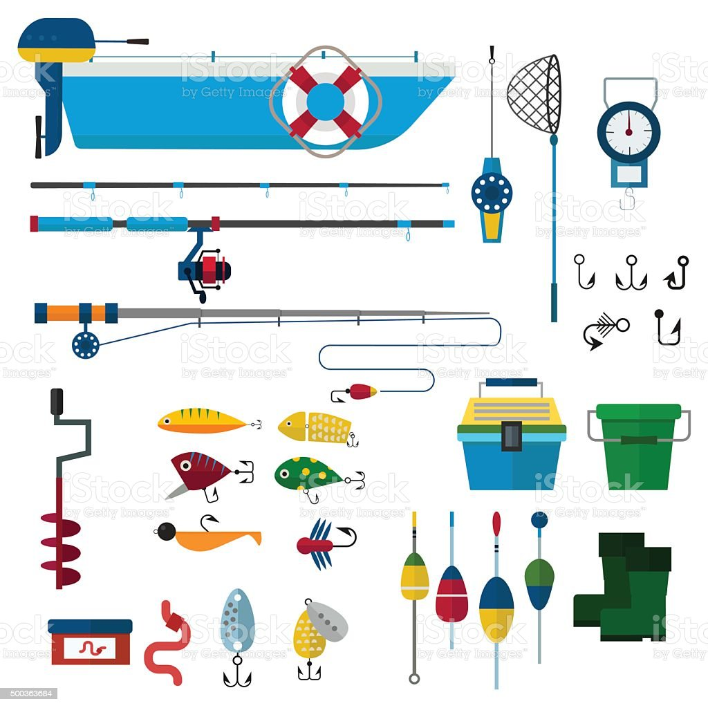 fishing vector icons illustration vector art illustration