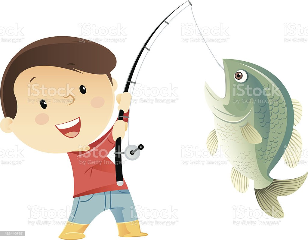 Fishing royalty-free stock vector art
