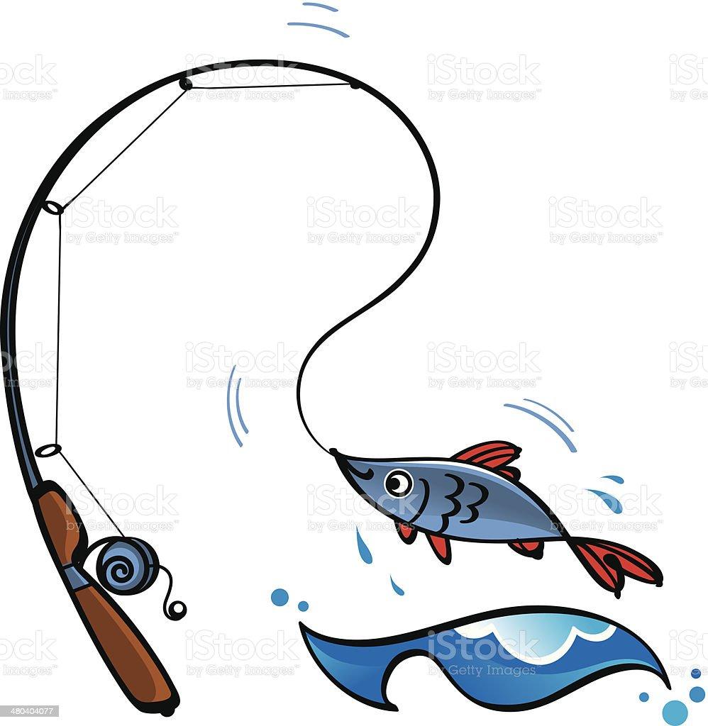 Fishing royalty-free stock vector art