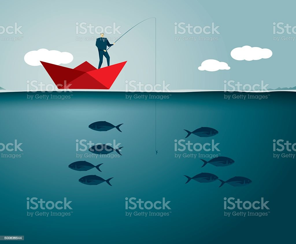 Fishing vector art illustration