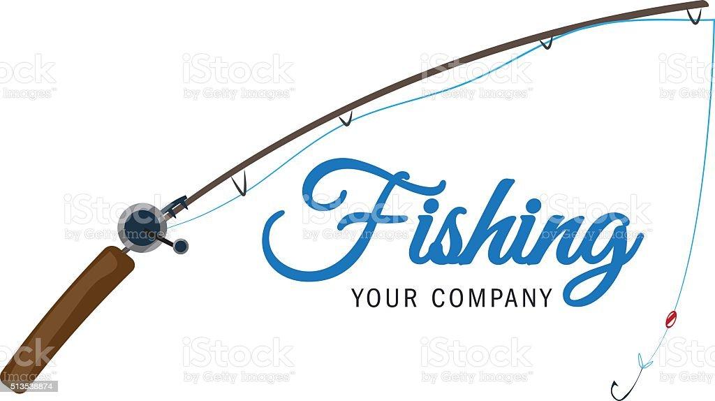fishing vector logo design template. vector art illustration
