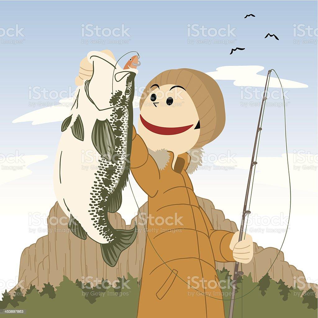 Fishing_BassBoy royalty-free stock vector art