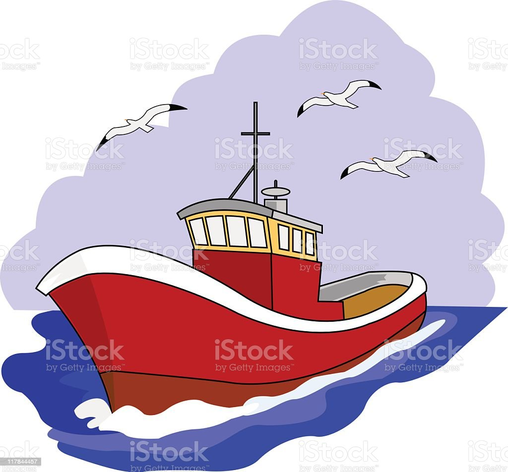 FishingBoat royalty-free stock vector art