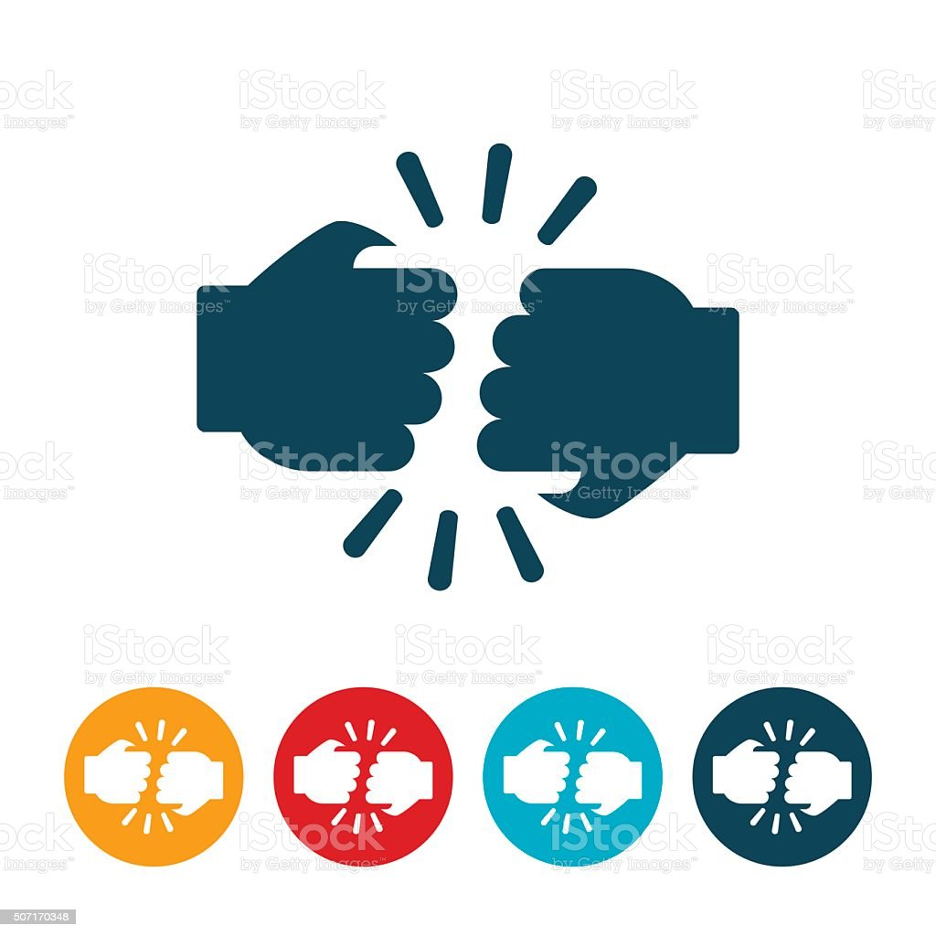 Fist Bump Icon vector art illustration