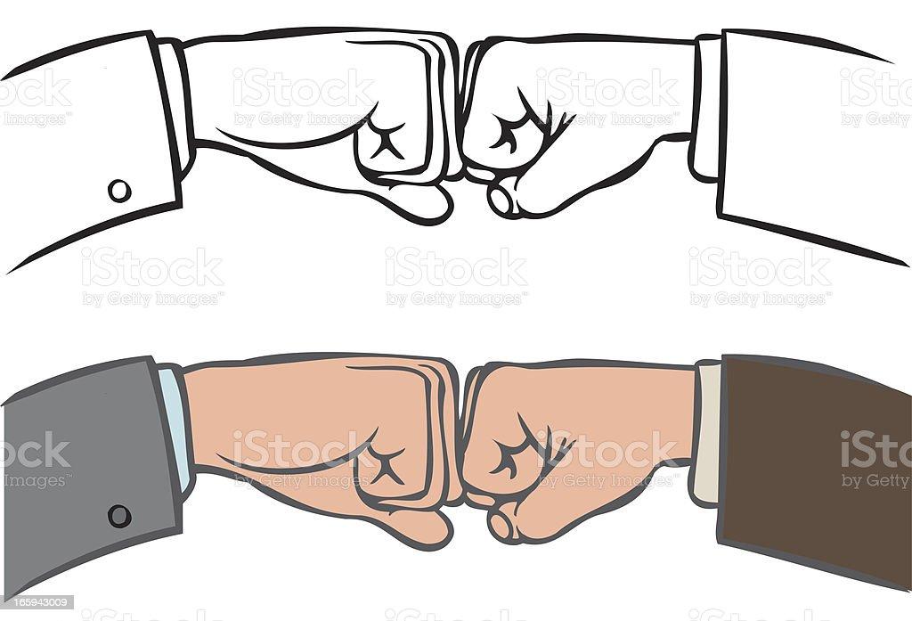 Fist bump royalty-free stock vector art