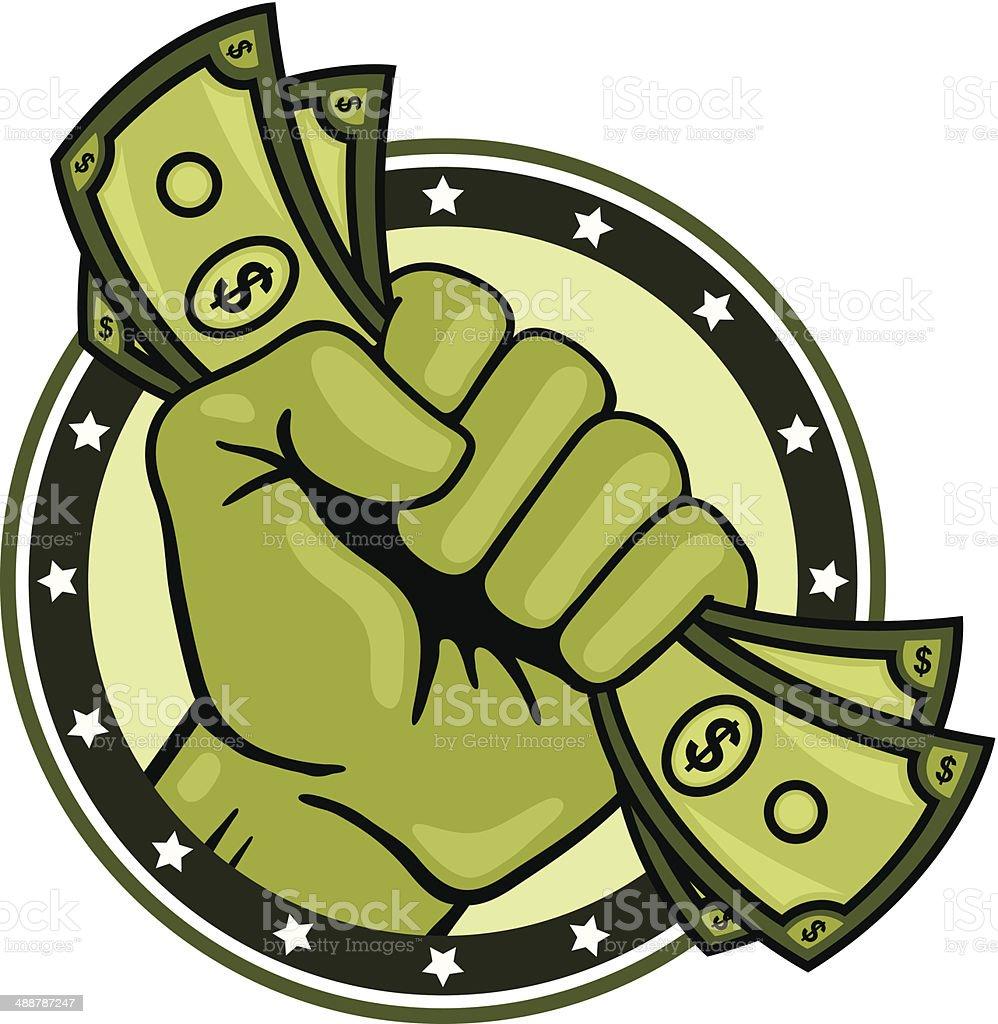 Fist Full of Money vector art illustration