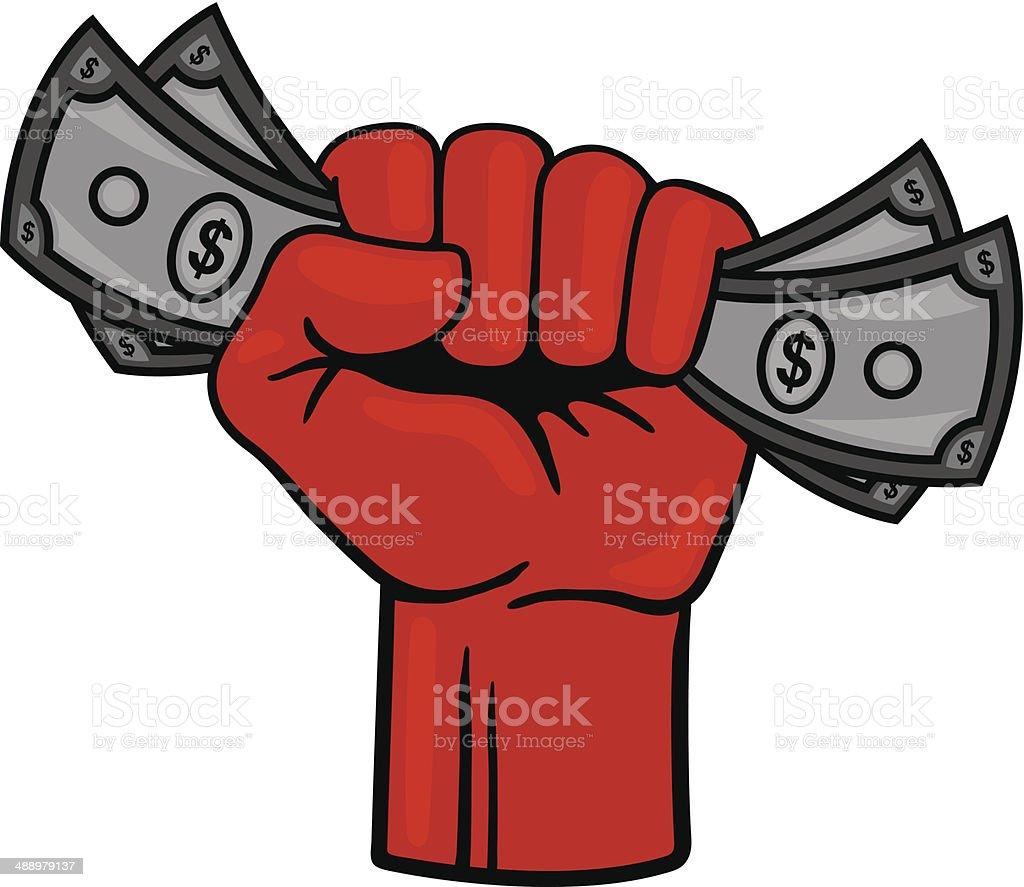 Fist Full of Money royalty-free stock vector art