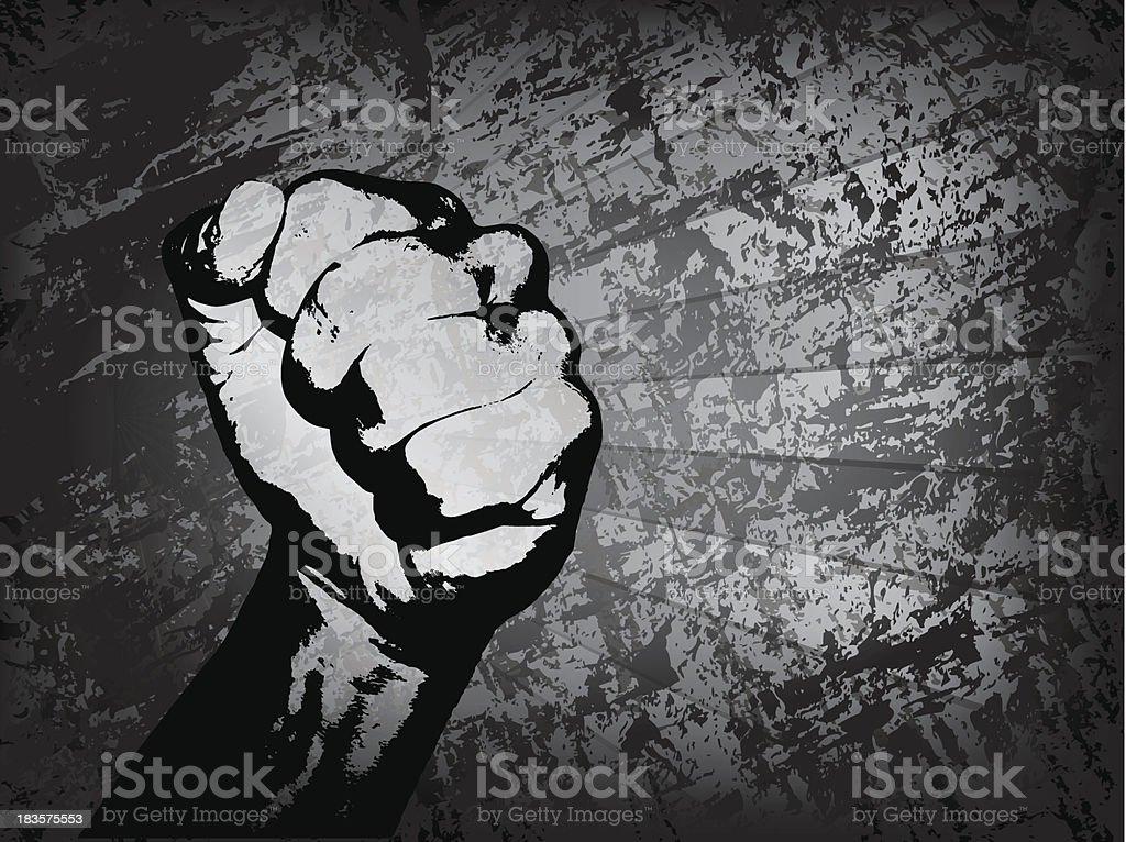 Fist grunge royalty-free stock vector art