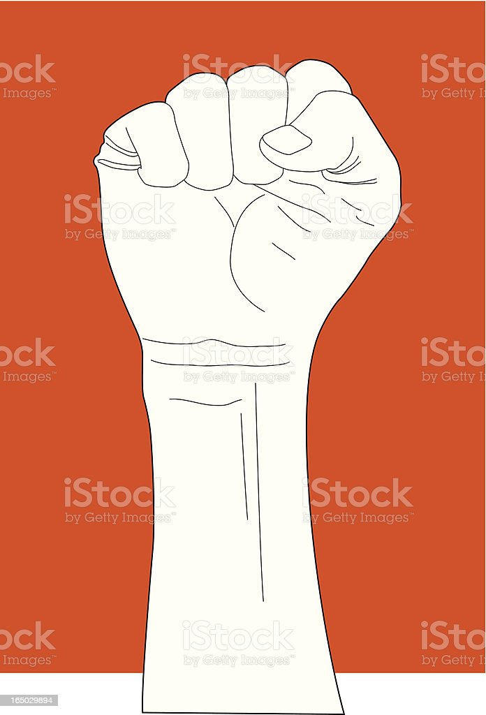 Fist Hand Gesture royalty-free stock vector art