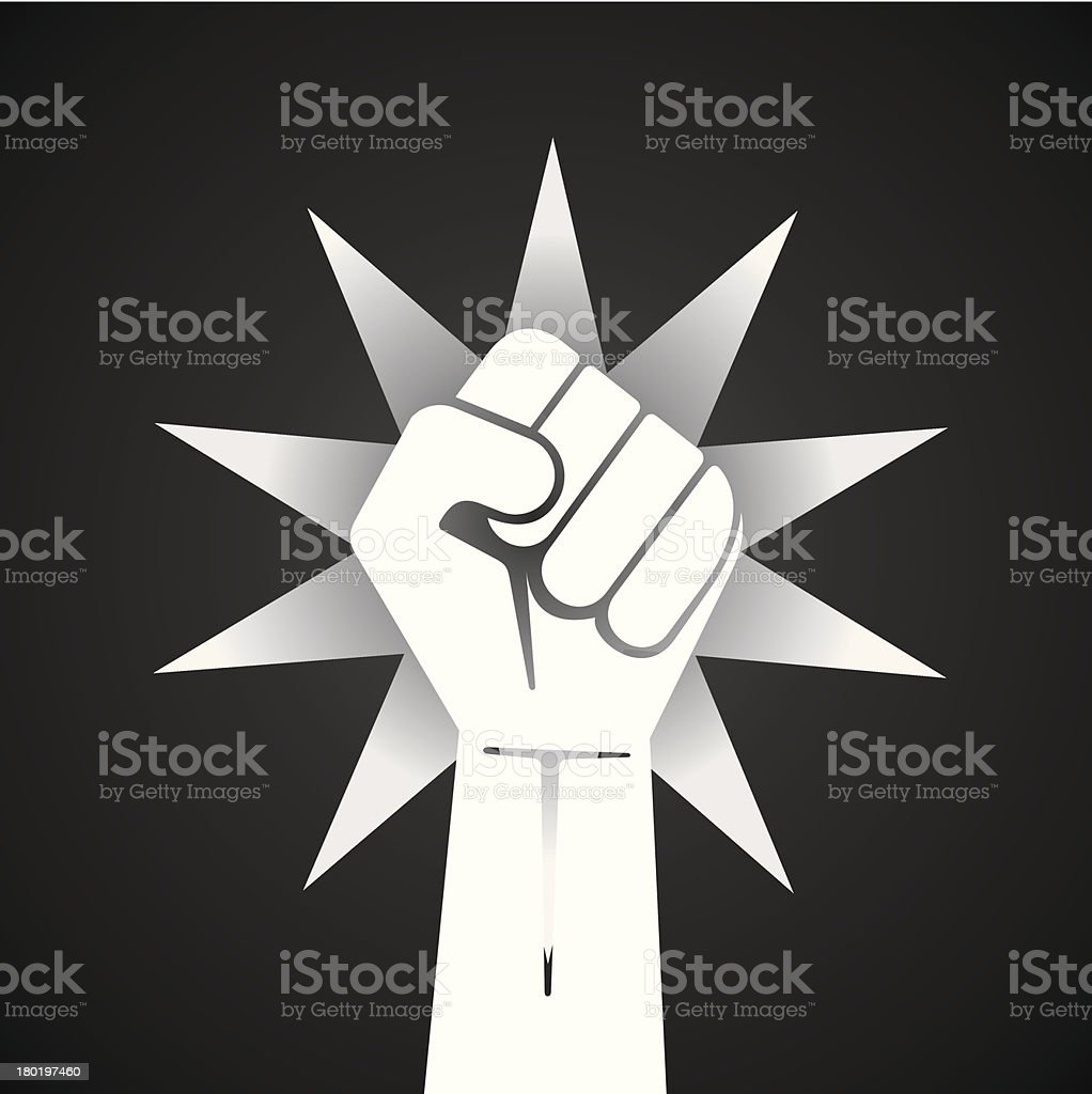 fist hand royalty-free stock vector art