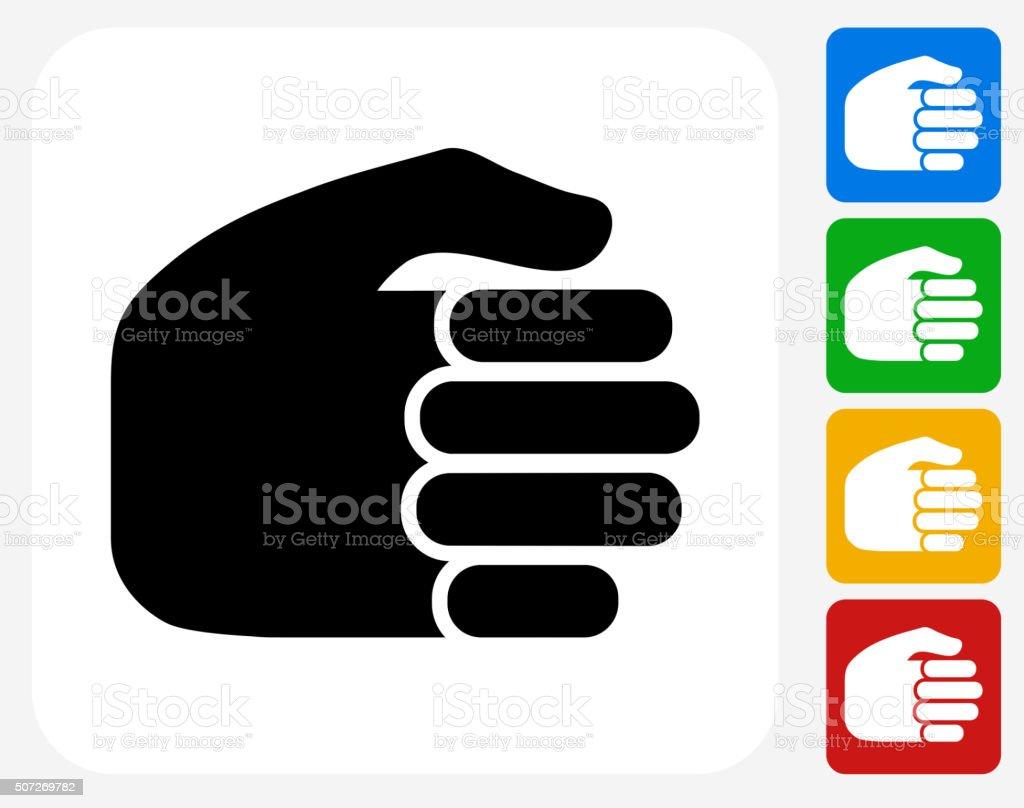 Fist Icon Flat Graphic Design vector art illustration