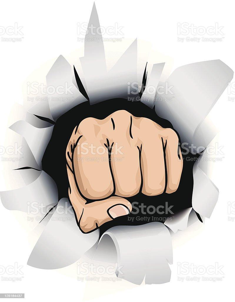fist illustration royalty-free stock vector art