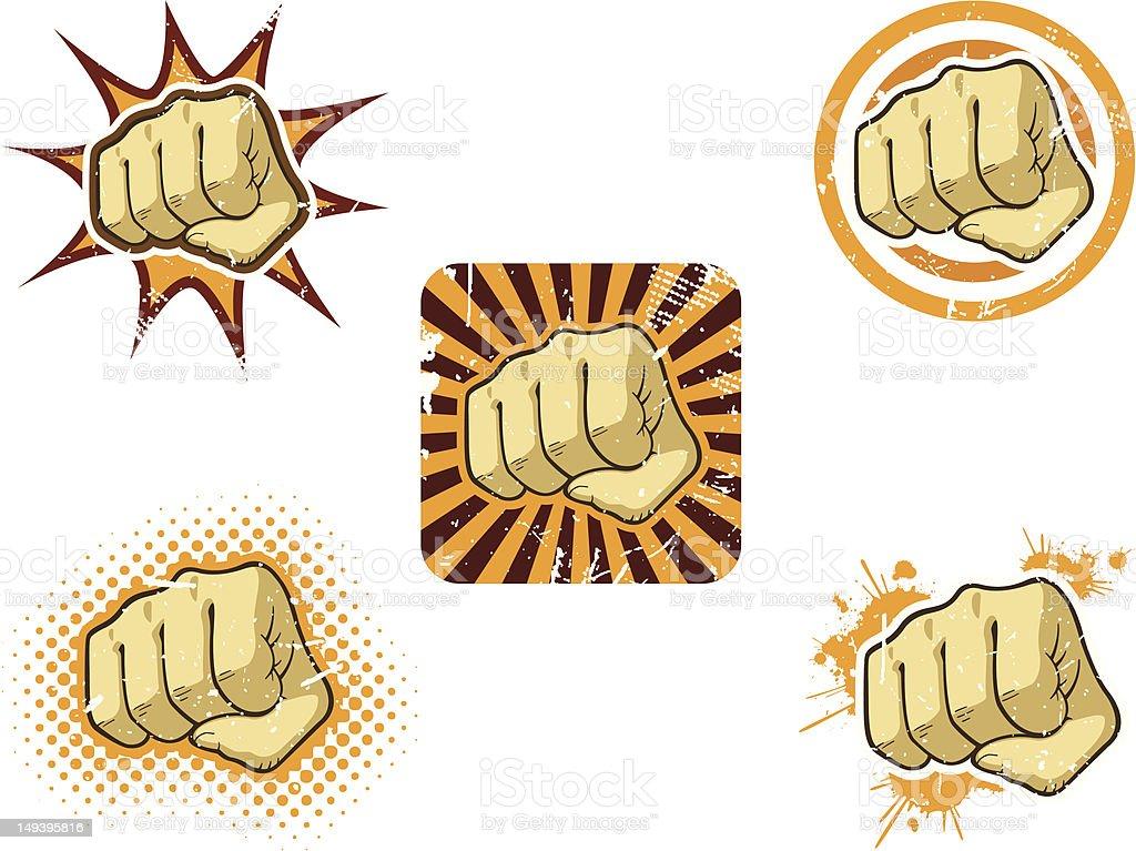 Fist of Fury vector art illustration