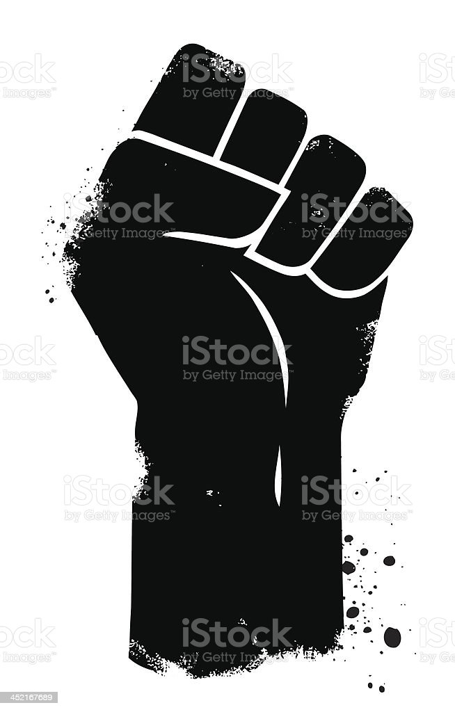 Fist Power vector art illustration