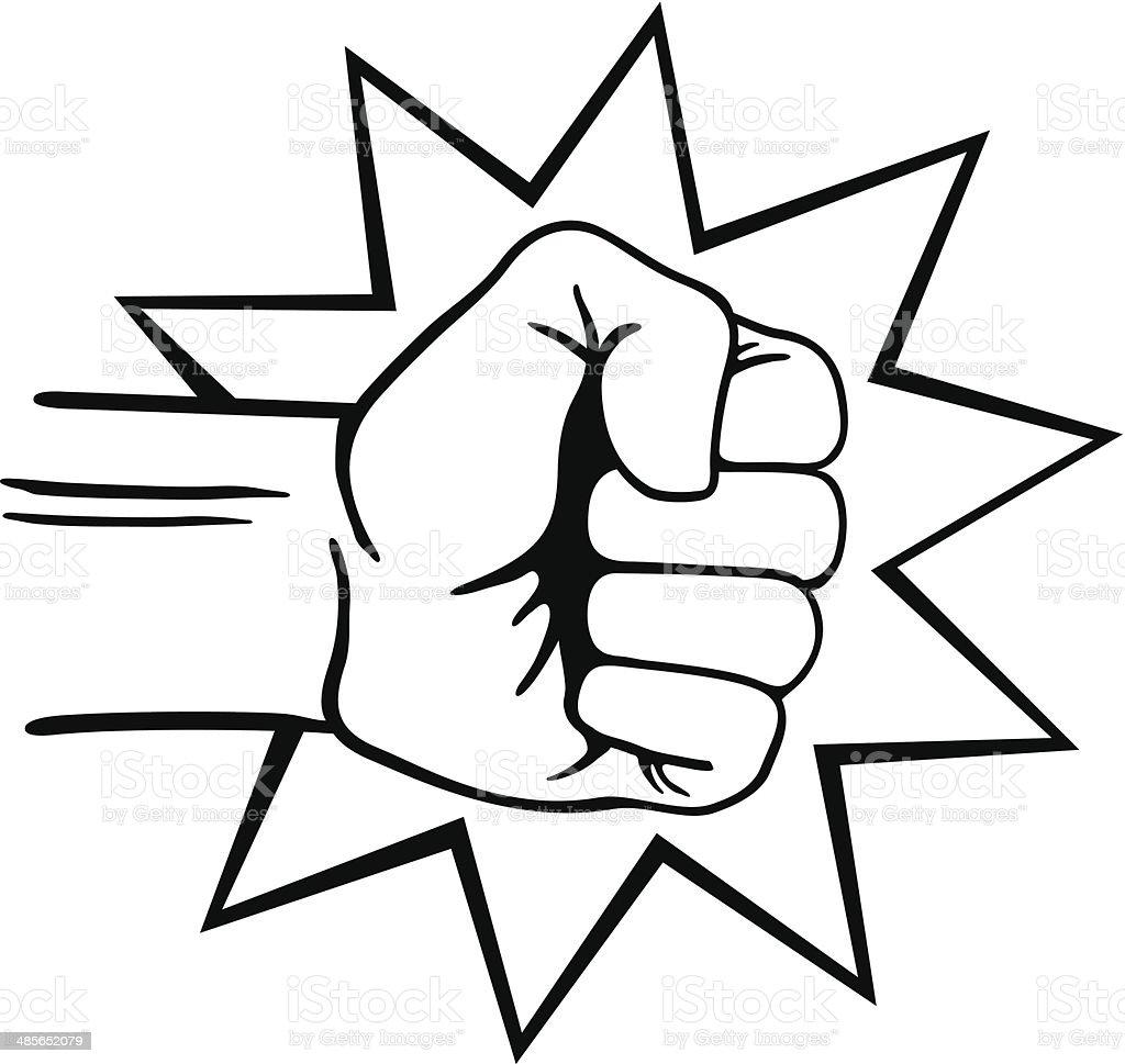 Fist Punch vector art illustration