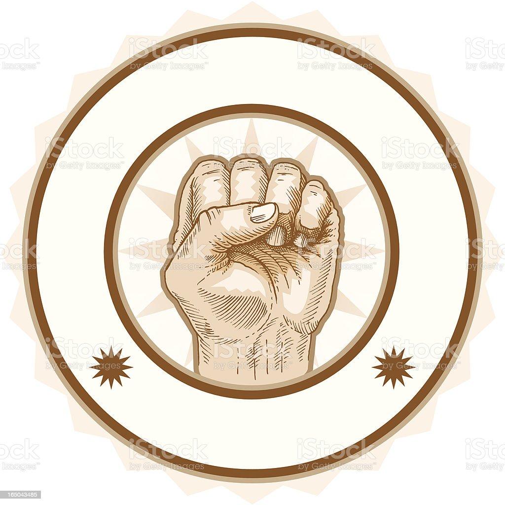 Fist Seal royalty-free stock vector art