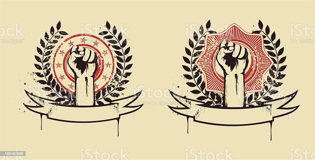 Fist seals royalty-free stock vector art