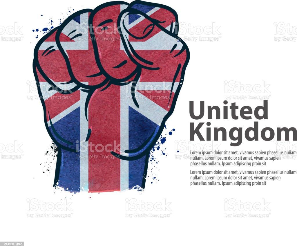 fist. the flag of england, britain, uk. vector illustration vector art illustration