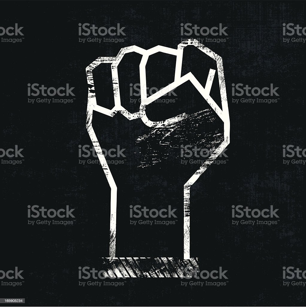 Fist royalty-free stock vector art