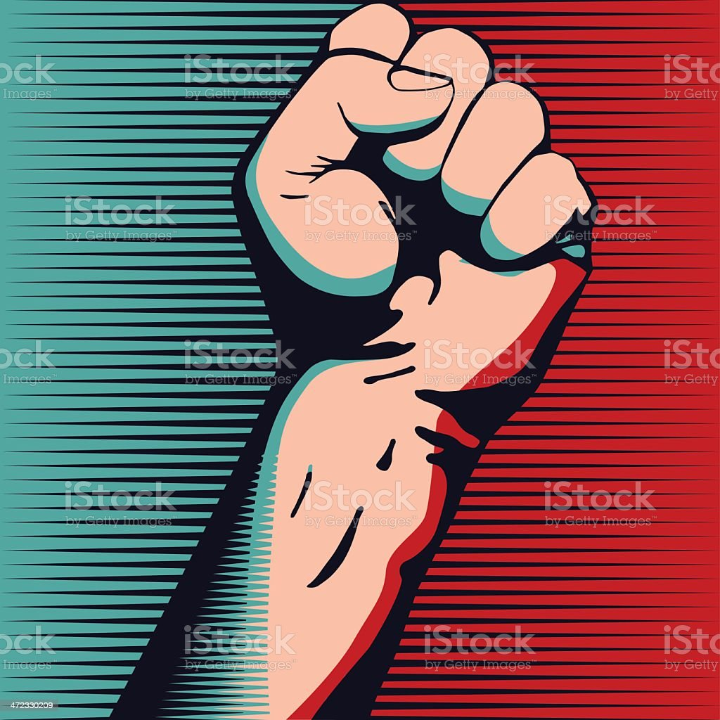 Fist vector art illustration