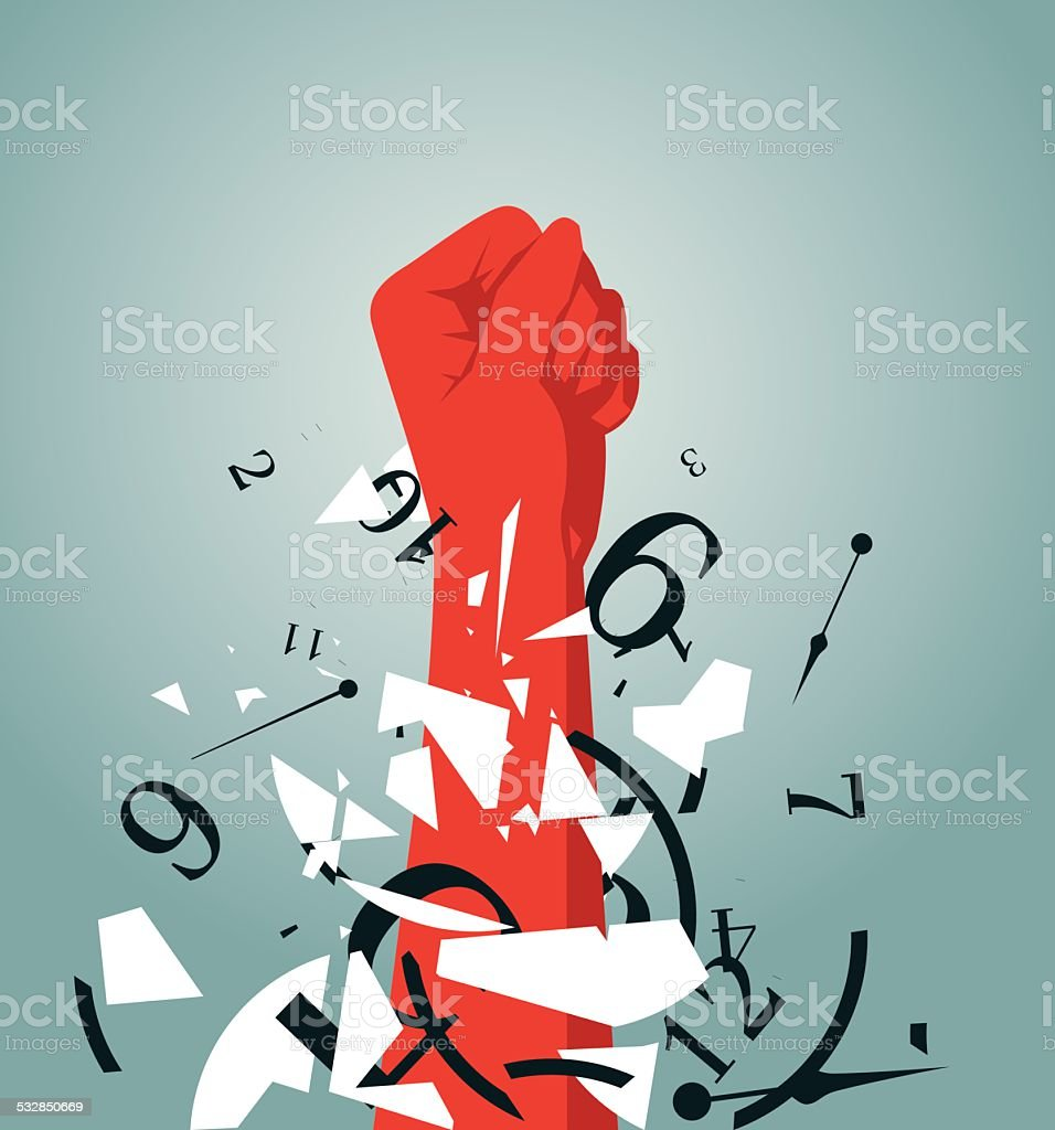 Fist vector art illustration