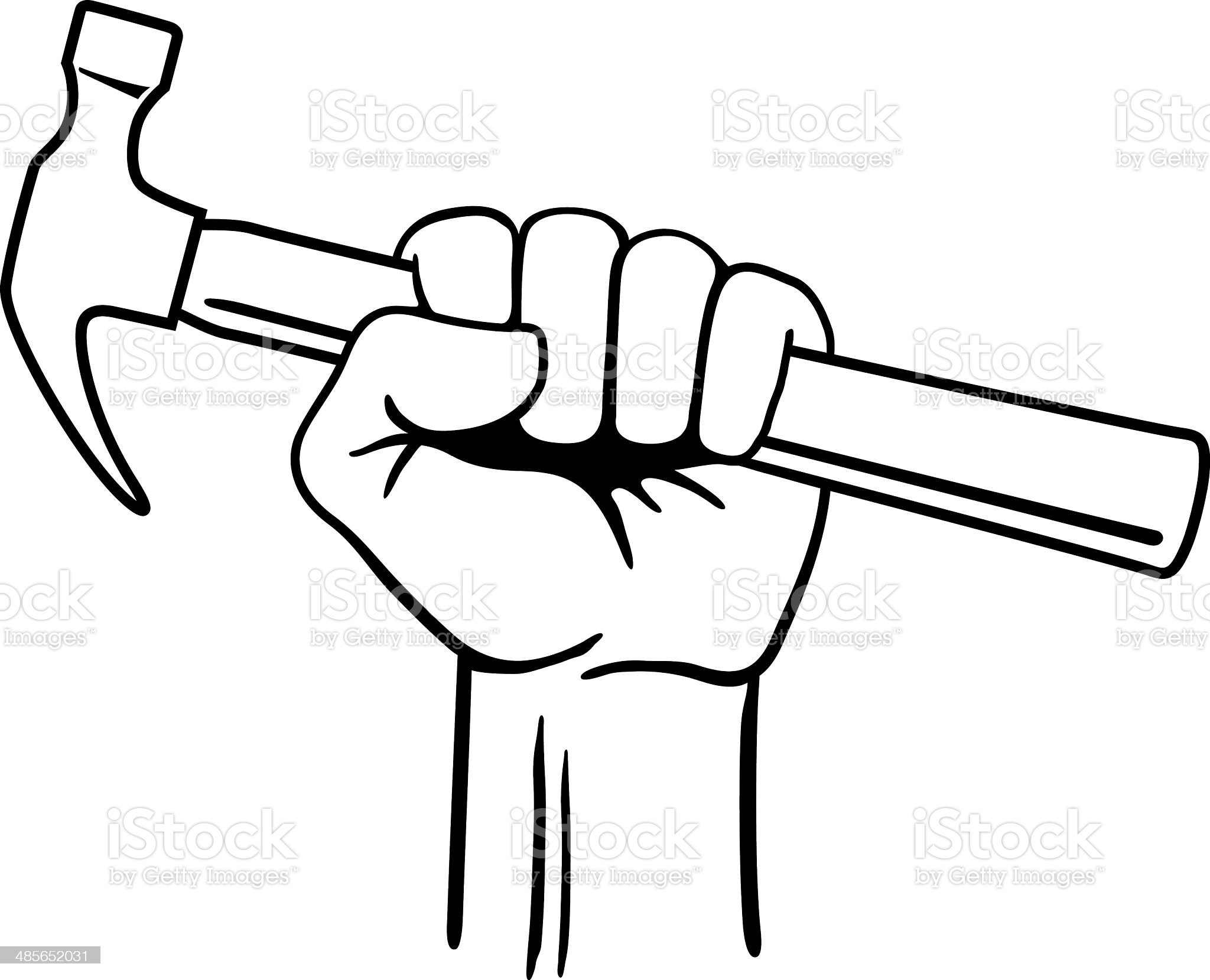 Fist with Hammer royalty-free stock vector art