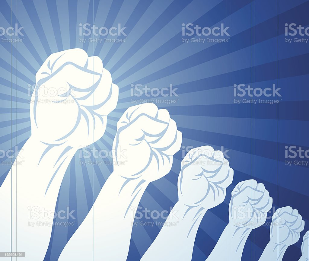 Fists In The Air royalty-free stock vector art