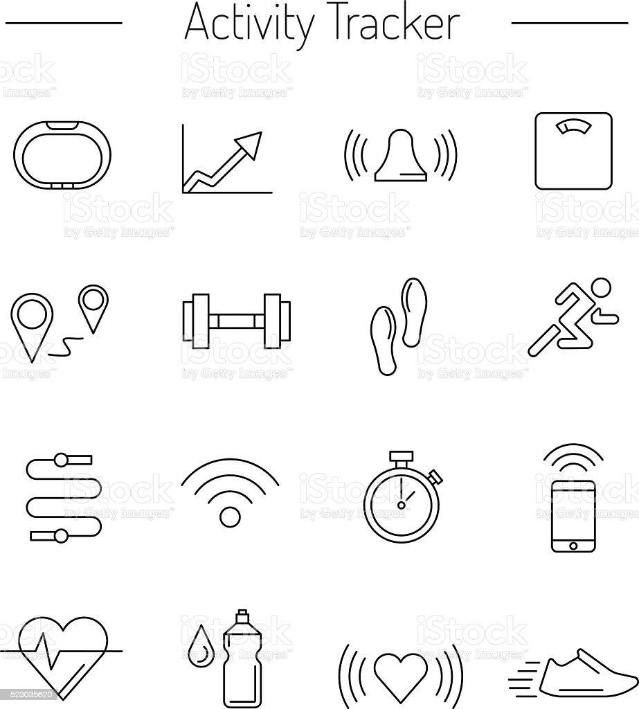 fitness activity tracker  02 vector art illustration