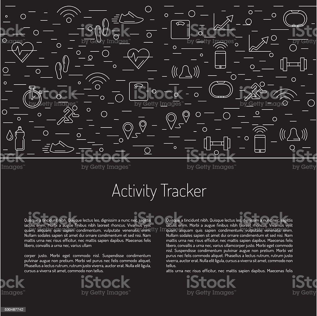 fitness activity tracker  23 vector art illustration
