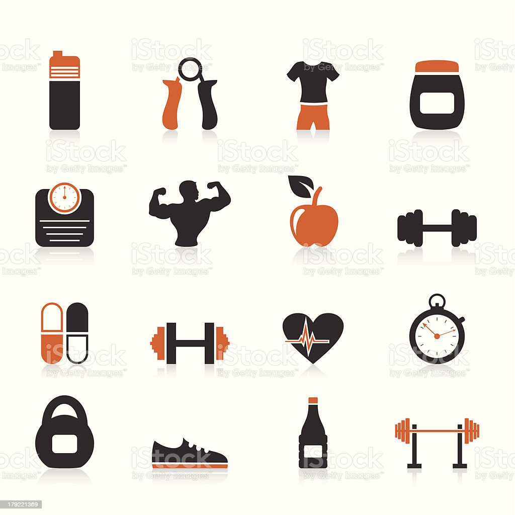 Fitness an icon royalty-free stock vector art