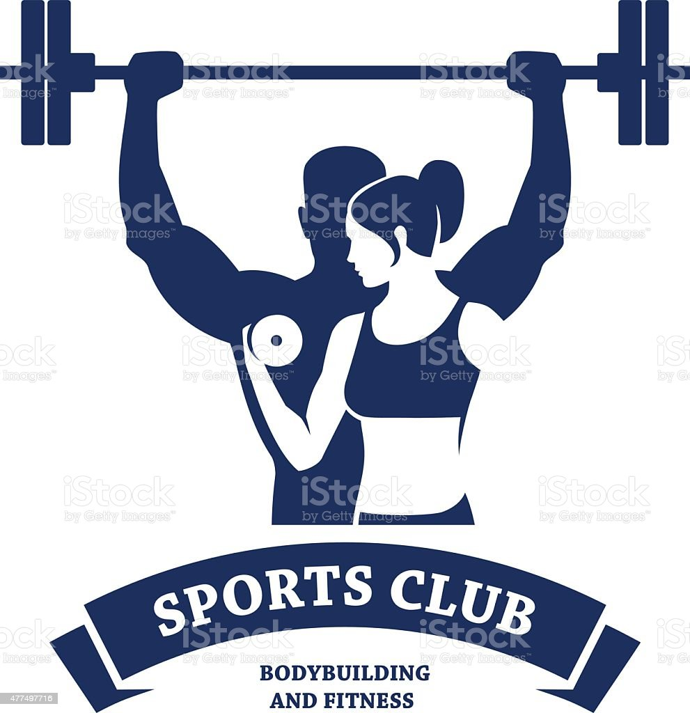 Fitness and Bodybuilding Club vector art illustration