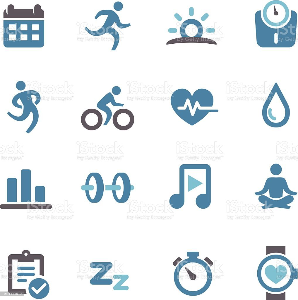 Fitness and Healthy Icons - Conc Series vector art illustration
