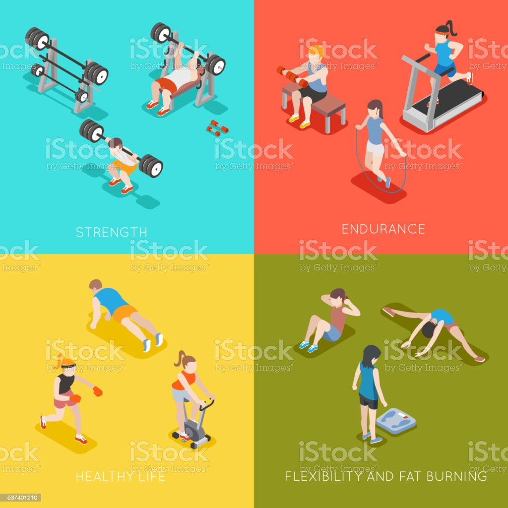 Fitness concept vector backgrounds vector art illustration