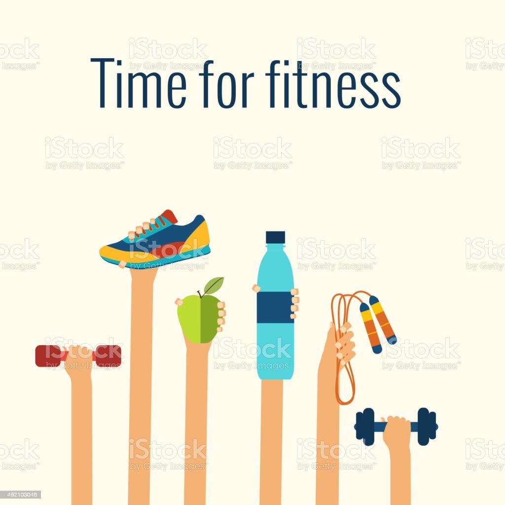 Fitness concept vector art illustration