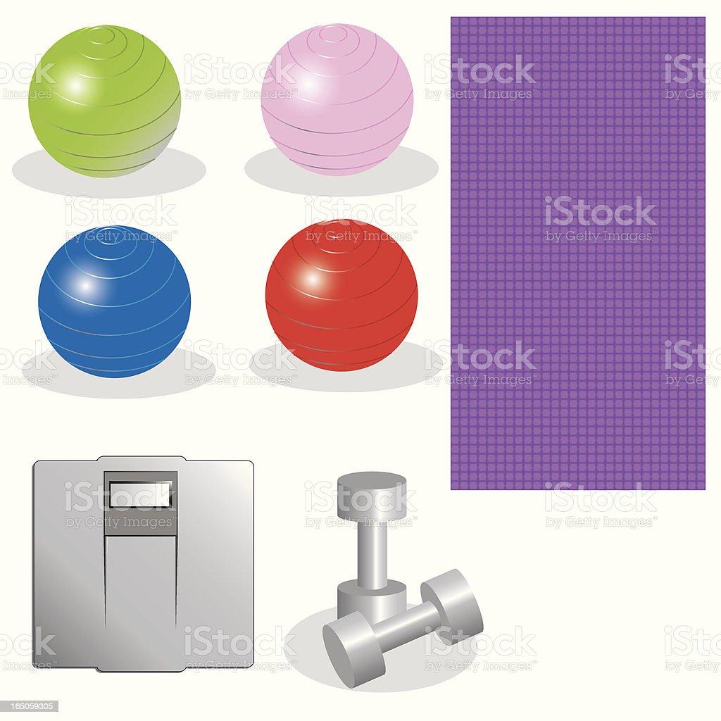 Fitness design set vector art illustration
