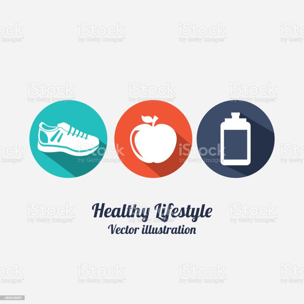 Fitness Design vector art illustration