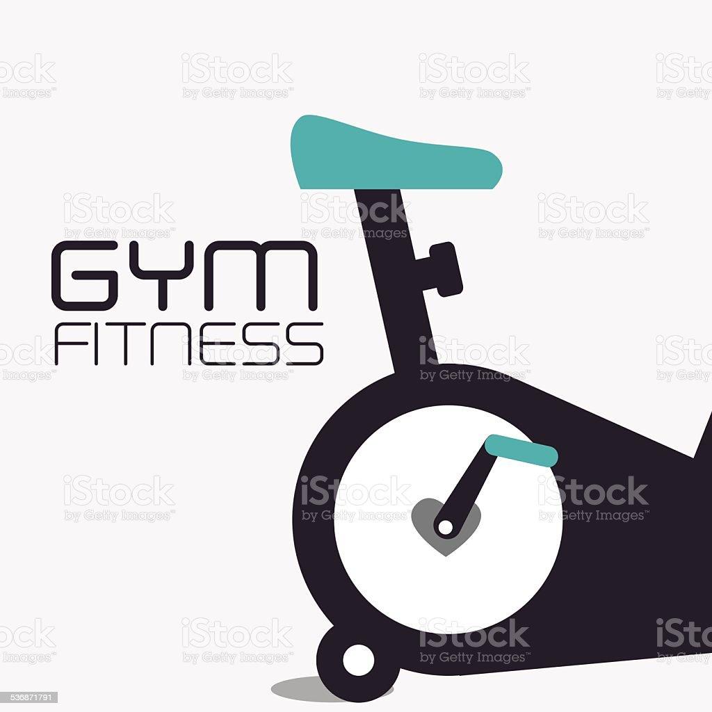 Fitness design, vector illustration. vector art illustration