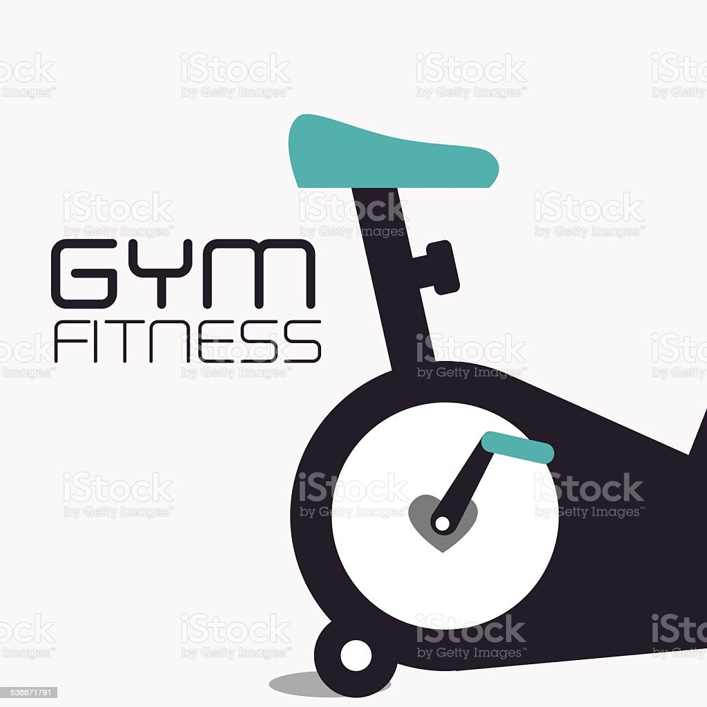 Fitness design, vector illustration. vector art illustration