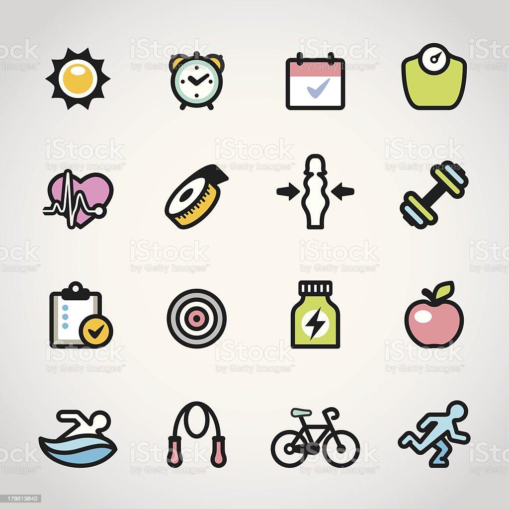 Fitness / Fabrico icons royalty-free stock vector art