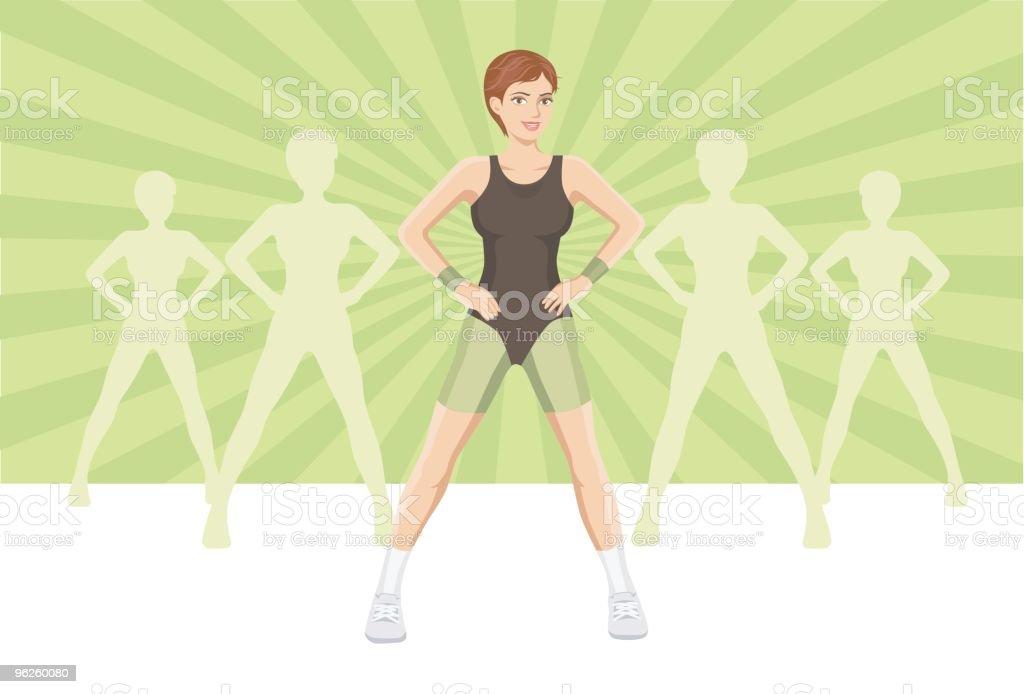 fitness group vector art illustration