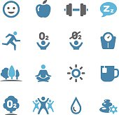 Fitness, Healthy Life Style Icons - Conc Series
