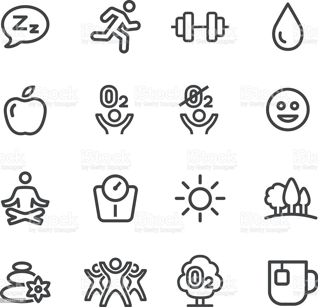 Fitness, Healthy Life Style Icons - Line Series vector art illustration