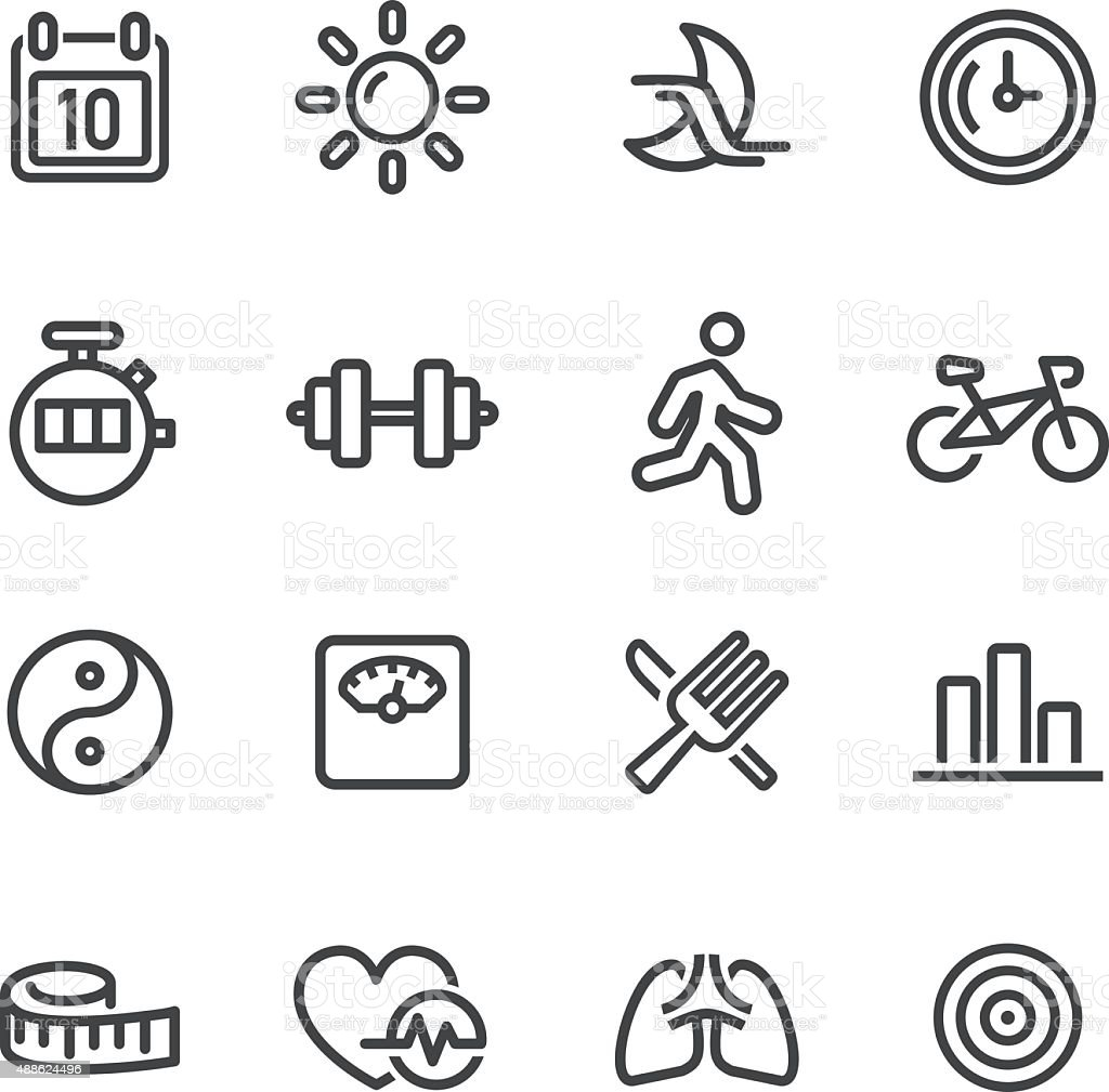 Fitness Icon - Line Series vector art illustration