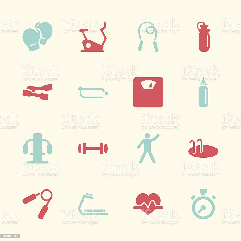 Fitness Icons - Color Series | EPS10 vector art illustration