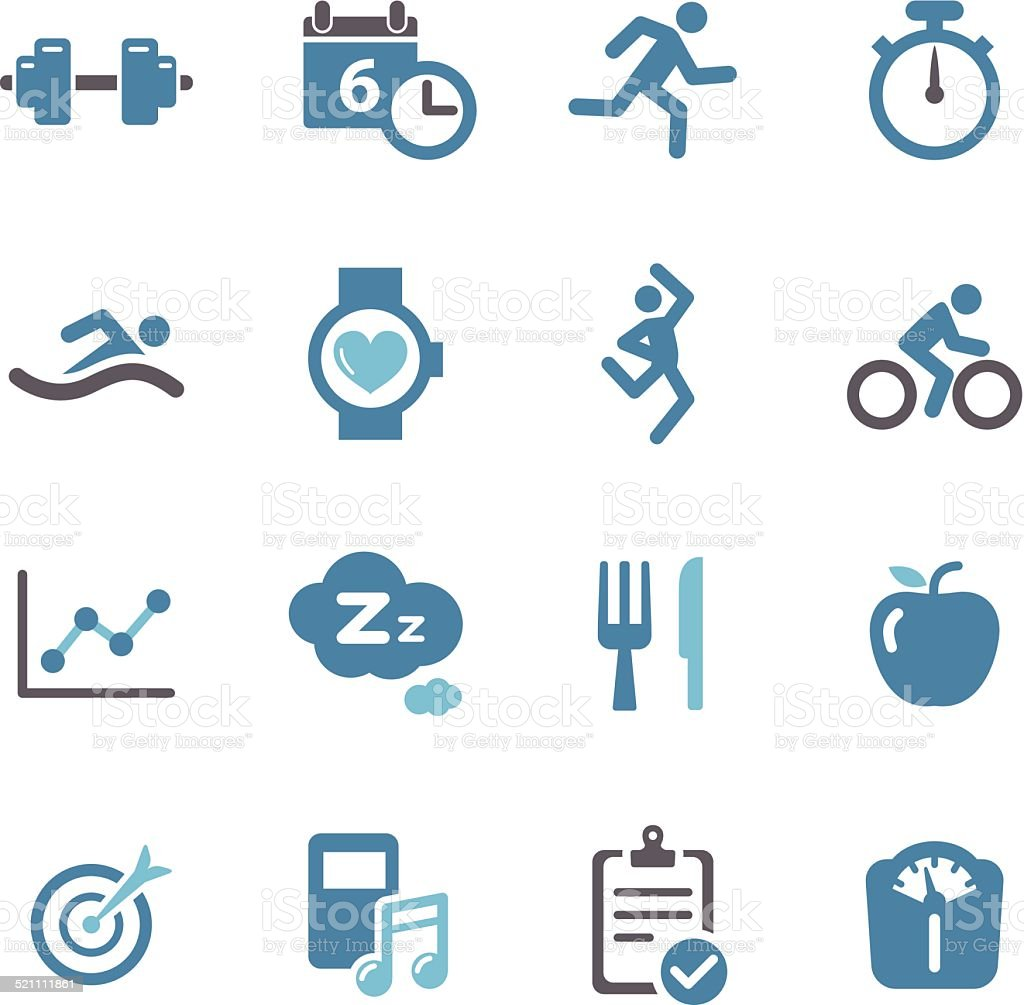 Fitness Icons - Conc Series vector art illustration