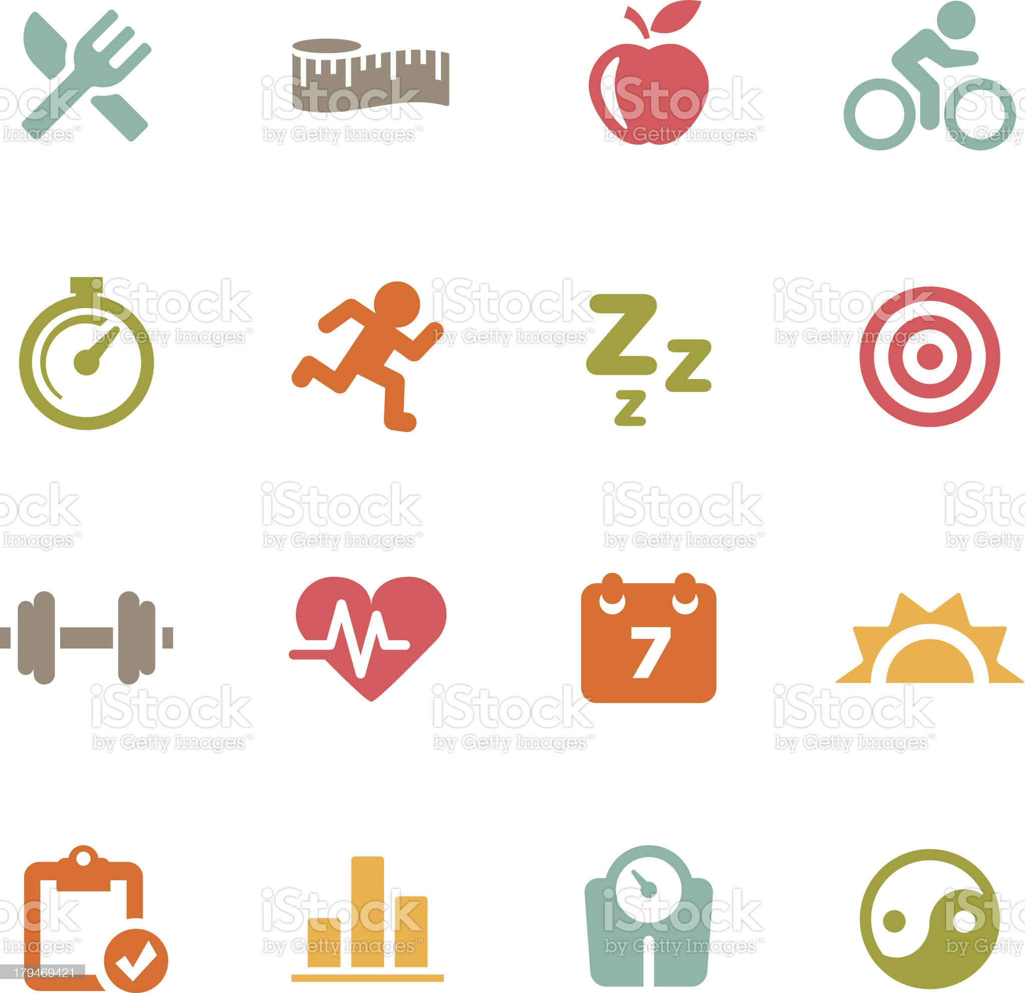 Fitness Icons | Flat Series royalty-free stock vector art