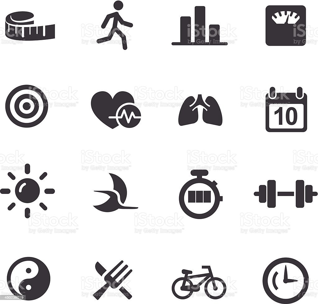 Fitness Icons Set 2 - Acme Series royalty-free stock vector art